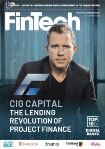 Fintech Magazine Cover - Charles D Carey